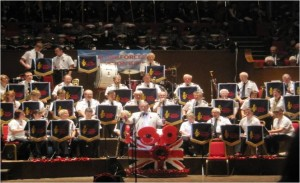 The RAFA Concert Bands 1st appearance at the Royal British Legions, Festival of Remembrance.